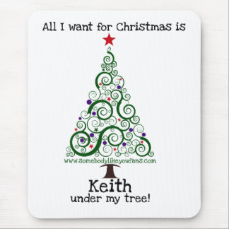 All I Want For Christmas - Keith Mouse Pad