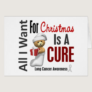 All I Want For Christmas Lung Cancer Card