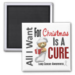 All I Want For Christmas Lung Cancer Fridge Magnet