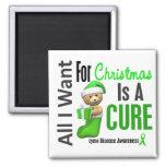 All I Want For Christmas Lyme Disease Fridge Magnet