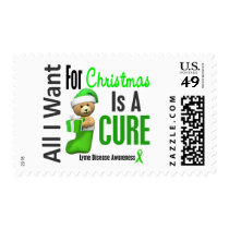 All I Want For Christmas Lyme Disease Postage