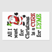 All I Want For Christmas...Lyme Rectangular Sticker