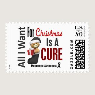 All I Want For Christmas Melanoma Postage
