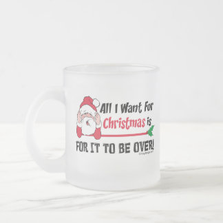 All I want for Christmas 10 Oz Frosted Glass Coffee Mug