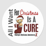 All I Want For Christmas Multiple Myeloma Round Stickers