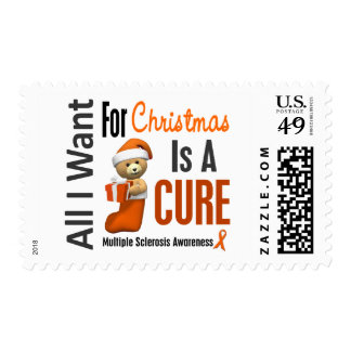 All I Want For Christmas Multiple Sclerosis Postage Stamp