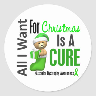 All I Want For Christmas Muscular Dystrophy Sticker
