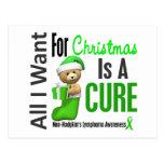 All I Want For Christmas Non-Hodgkin's Lymphoma Postcard