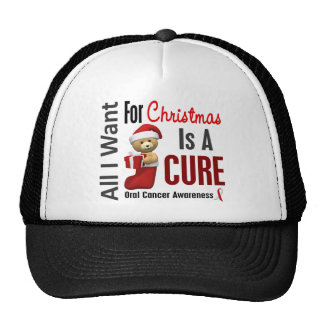 All I Want For Christmas Oral Cancer Mesh Hat