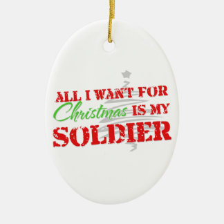 All I want for Christmas - Oval Ornament