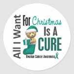 All I Want For Christmas Ovarian Cancer Stickers