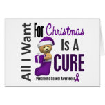 All I Want For Christmas Pancreatic Cancer Greeting Cards