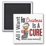 All I Want For Christmas Parkinson's Disease Fridge Magnet