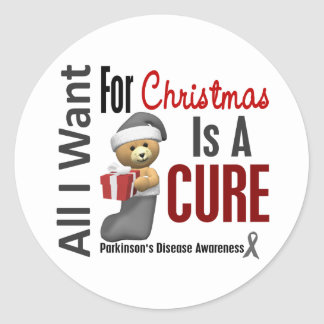 All I Want For Christmas Parkinson's Disease Stickers