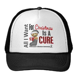 All I Want For Christmas Parkinson's Disease Trucker Hat