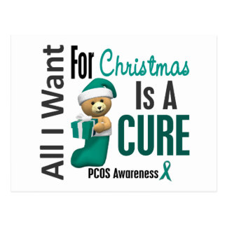 All I Want For Christmas PCOS Post Card