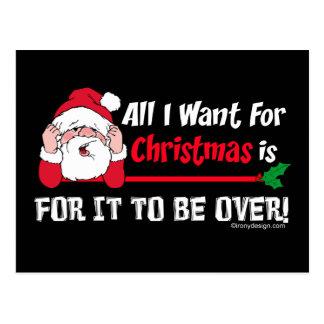 All I want for Christmas Postcard