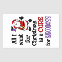 All I Want For Christmas...Sarcoidosis Rectangular Sticker