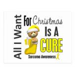 All I Want For Christmas Sarcoma Postcard
