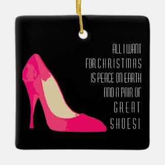 All I want for Christmas Shoes design ornament