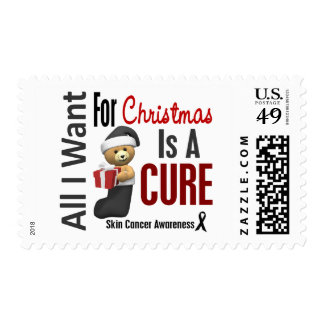 All I Want For Christmas Skin Cancer Stamp
