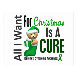 All I Want For Christmas Tourette's Syndrome Post Card