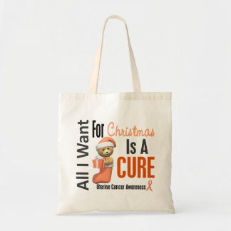All I Want For Christmas Uterine Cancer Bags