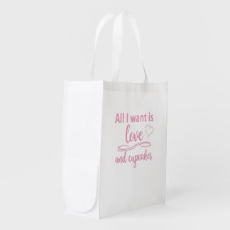 All I want is love and cupcakes Market Tote