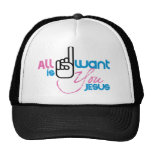 All I Want Is You Jesus (Trucker Snapback Hat)
