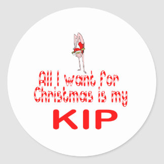 All I want Kip Classic Round Sticker
