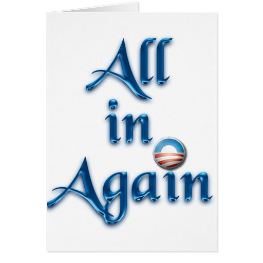 All in Again Greeting Card