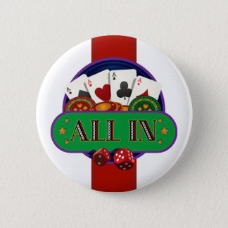 All In Casino Poker Pinback Button
