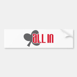 All in clubs bumper sticker