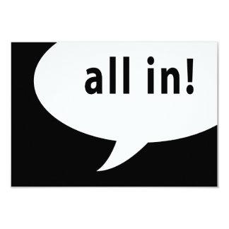 all in! comic speech bubble card