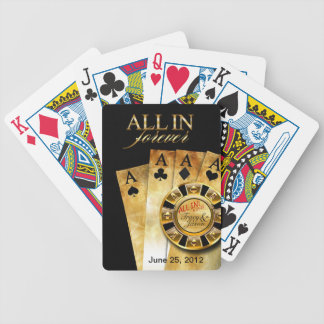 All In Las Vegas Party (ask me to add your names) Poker Deck