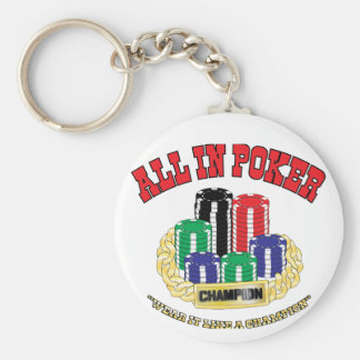 All In Poker Keychain