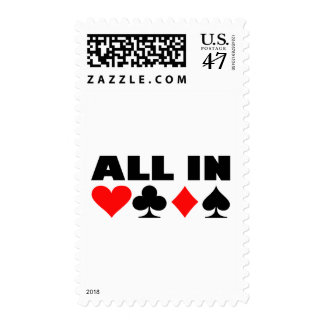 All in poker postage
