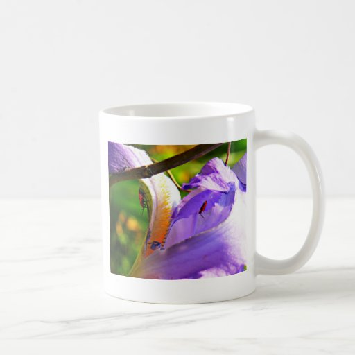 All In The Details - Iris and insects Coffee Mug