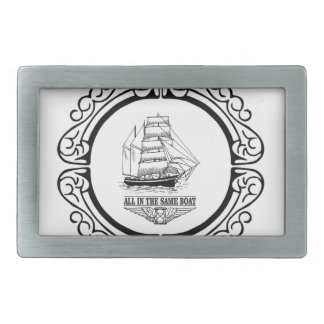 all in the same boat rectangular belt buckle