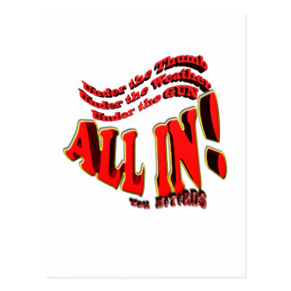 all in you B#st#rds Postcard