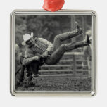 All Indian Rodeo in Tygh Valley, Oregon. Clint Metal Ornament