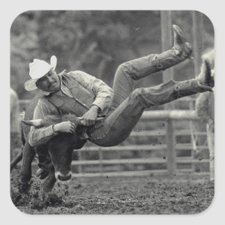 All Indian Rodeo in Tygh Valley, Oregon. Clint Square Sticker