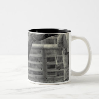 All Indian Rodeo in Tygh Valley, Oregon. Clint Two-Tone Coffee Mug