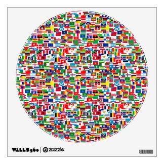 All International Flags Wall Sticker