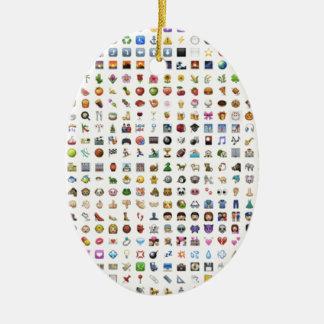 All iPhone/iOS emojis Adorno Navideño Ovalado De Cerámica