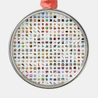All iPhone/iOS emojis Adorno Navideño Redondo De Metal
