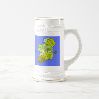 All Irish Map of Ireland Beer Stein
