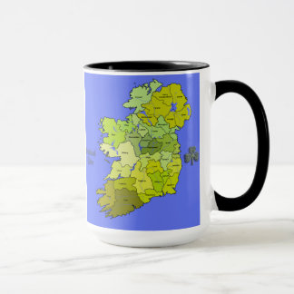 All Irish Map of Ireland Mug
