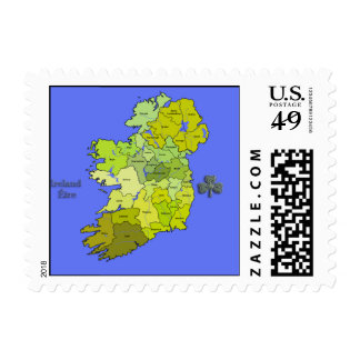 All Irish Map of Ireland Postage