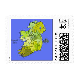 All Irish Map of Ireland Postage